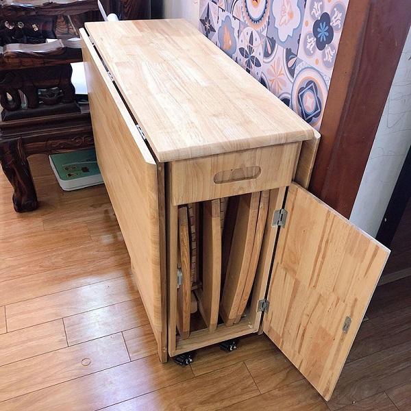 Bàn ăn thông minh Xếp Gọn xuất khẩu Nhật 4 ghế 8