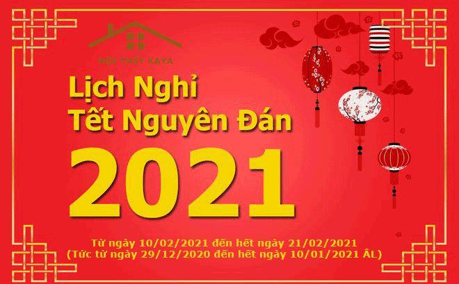 Lịch nghỉ tết Tân Sửu 2021